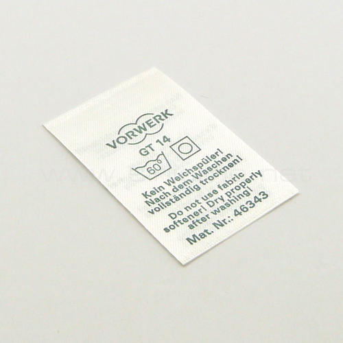Printed wash/care label