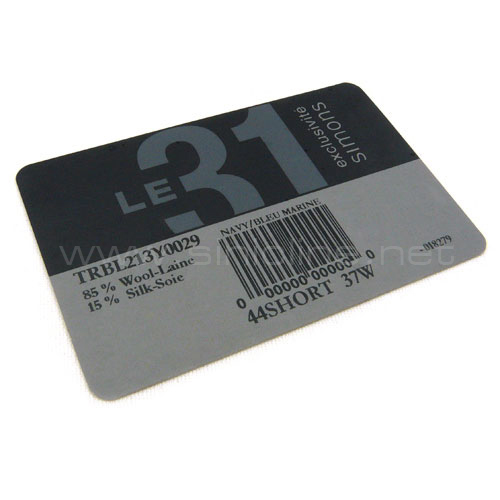 Barcode label (BL004)