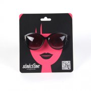 sunglasses displaying card