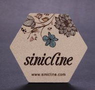 Sinicline Custom PU Leather Label with Logo Printing