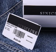 Sinicline Barcode Price Ticket with Foil Stamping