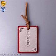 Sinicline debossed logo leather hang tag HT342