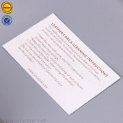 Sinicline leather goods care instruction card HT344