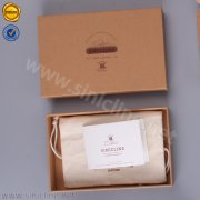 Sinicline kraft box with leather patch logo BX155