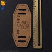 Sinicline custom logo leather patches LL068
