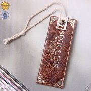 Custom logo leather hang tags HT351