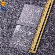 Clear heat transfer care labels IT013