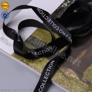 Black custom logo ribbon PL120