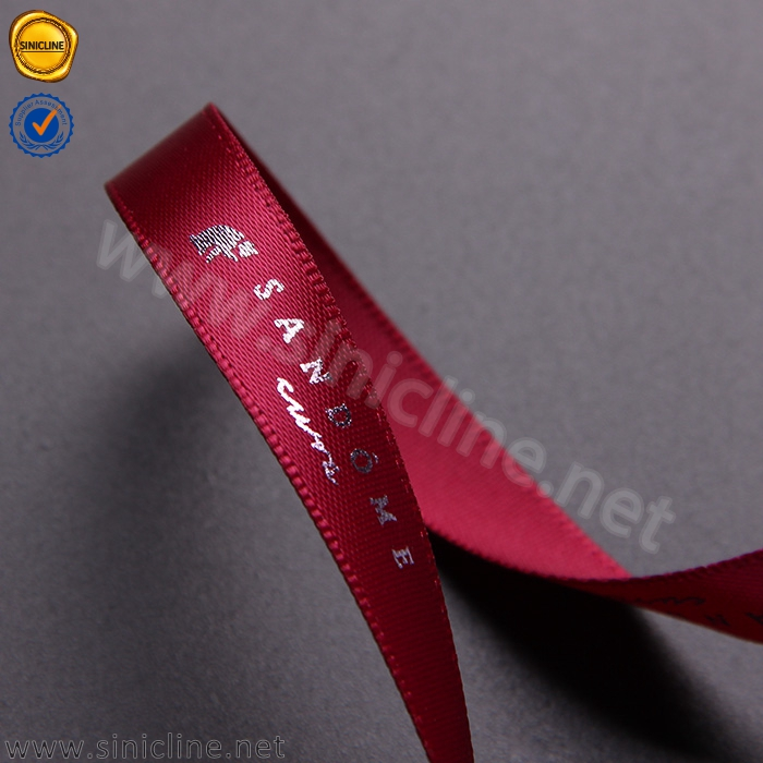 Wine red luxury ribbon PL122