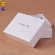 White bow tie box with silver stamped logo BX192
