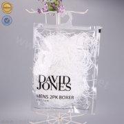 Sinicline clear underwear ziplock bag with hanger LMPB-FDX-062