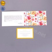 Sinicline fold over thank you card HT358