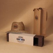 Sinicline slide open Panama hat box BX227