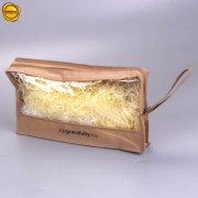 Non woven zipper bag with see-through window JEBG-AGS-01