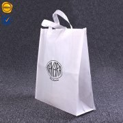 White and black non-woven tote bag RCNW-NG1-01