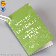 Milk Chocolate Ball Hangtag ADHT-FL1-134B