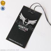 Black Embossed Hang Tag ADHT-SL8-001