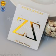 Sinicline Gold Foil Jewelry Card AYJC-CKT-001