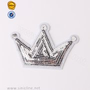 Crown Embroidery Sequin Patch SNEM-FY-069